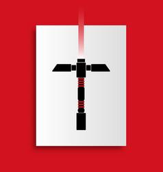 laser saber poster vector image vector image