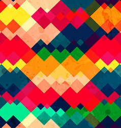 rainbow zigzag seamless texture with grunge effect vector image vector image