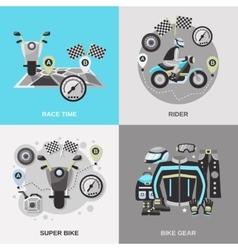 Rider flat set vector