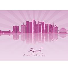 Riyadh v2 skyline in purple radiant orchid vector