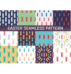 Set of 12 seamless pattern easter greeting with vector