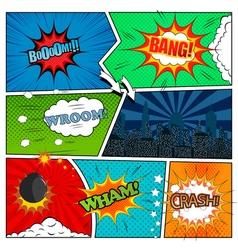 Set of comic book design elements vector image