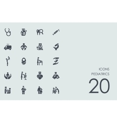 Set of pediatrics icons vector image