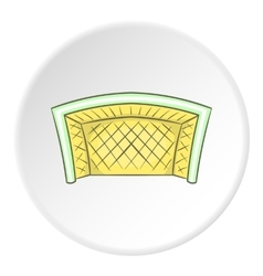 Soccer goal icon cartoon style vector