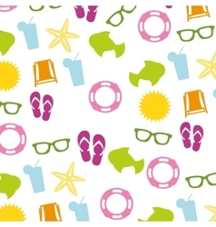 summer set isolated icons vector image
