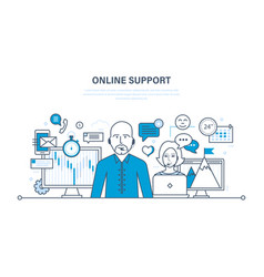 technical support consultation and communication vector image
