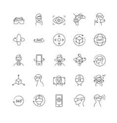 Virtual and augmented reality icons vector