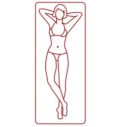 young woman tanning vector image