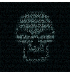 Code texture smiled skull vector