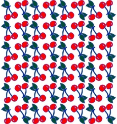 embroidery cherry pattern vector image