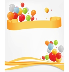 Colored ballons header and footer vector