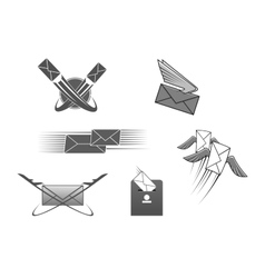 Mail post letter envelope postal icon vector image