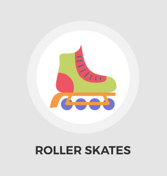 Roller skate flat icon vector