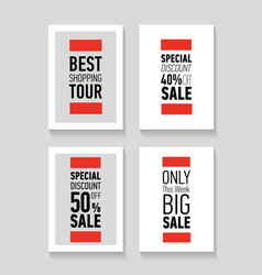 flat modern sale posters discount card design vector image