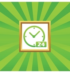 24 hours picture icon vector