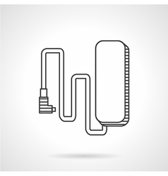 E-bike charge line icon vector