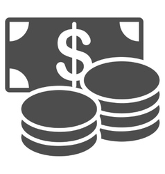 Cash icon from business bicolor set vector
