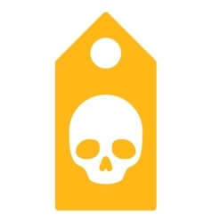 Death coupon icon vector