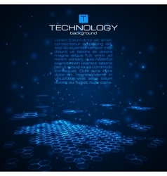 Futuristic digital background with space for text vector