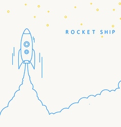 Rocket launch icon eps 10 vector image