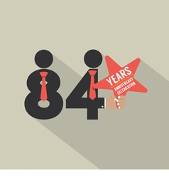 84th years anniversary typography design vector