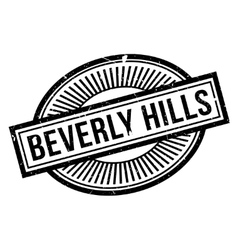 Beverly hills rubber stamp vector