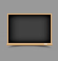 black empty blackboard vector image vector image
