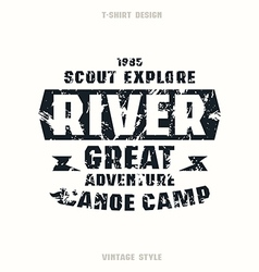 Camping badge vector