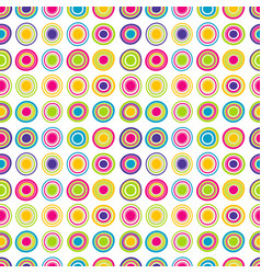 colorful seamless background with round shapes vector image