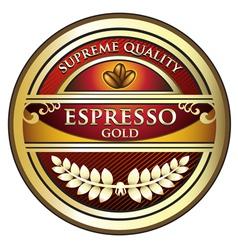 Espresso Red Label vector image vector image