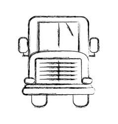 Figure school bus to children transportation vector