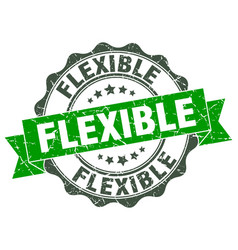 Flexible stamp sign seal vector