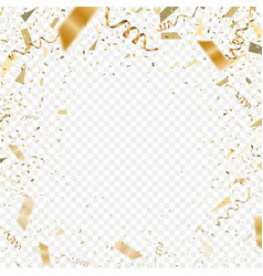 flying christmas confetti 2018 anniversary vector image vector image