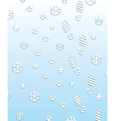 foot prints on the snow vector image vector image