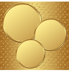 Golden plates vector