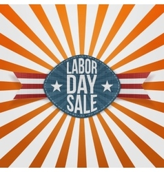 Labor Day Sale realistic festive Badge vector image