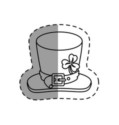 Leprechaun hat isolated icon vector