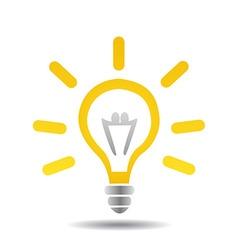 light bulb idea vector image vector image