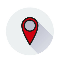 Location icon on white background vector