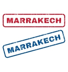 Marrakech rubber stamps vector