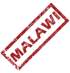 New malawi rubber stamp vector