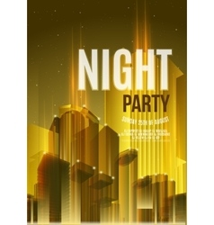 Night party yellow flyer template - eps10 vector