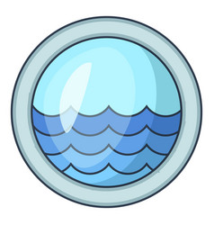 Porthole window of sailing ships icon vector