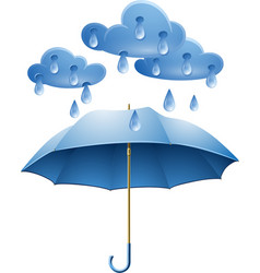 Protection against rain vector image