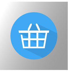 shopping basket icon vector image