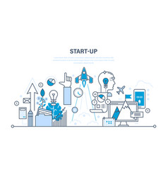 startup creative the implementation of ideas vector image