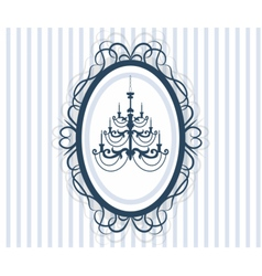 Vintage Frame Card with antique chandelier vector image vector image