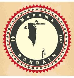 Vintage label-sticker cards of bahrain vector