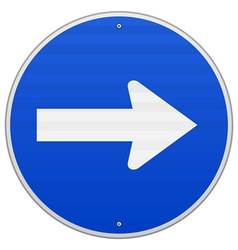 Blue Roadsign Pointing Right vector image