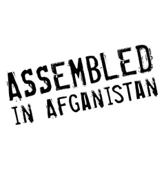 Assembled in afganistan rubber stamp vector